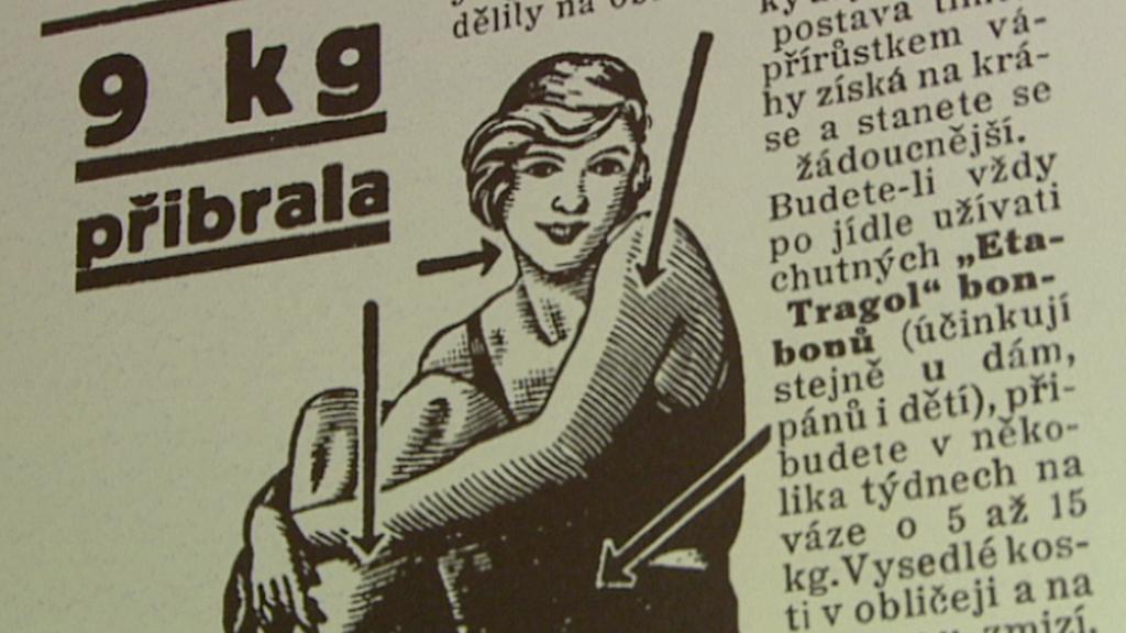 Historická reklama na bonbony