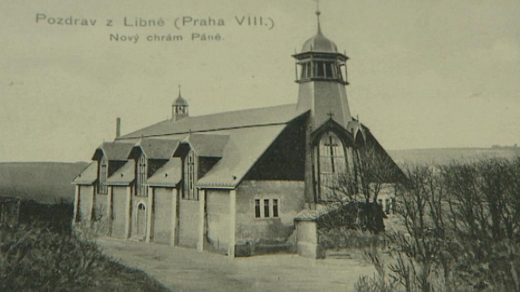 Historická fotografie kostela sv. Vojtěcha