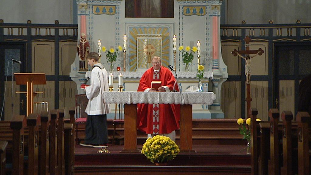 Bohoslužba v kostele sv. Vojtěcha