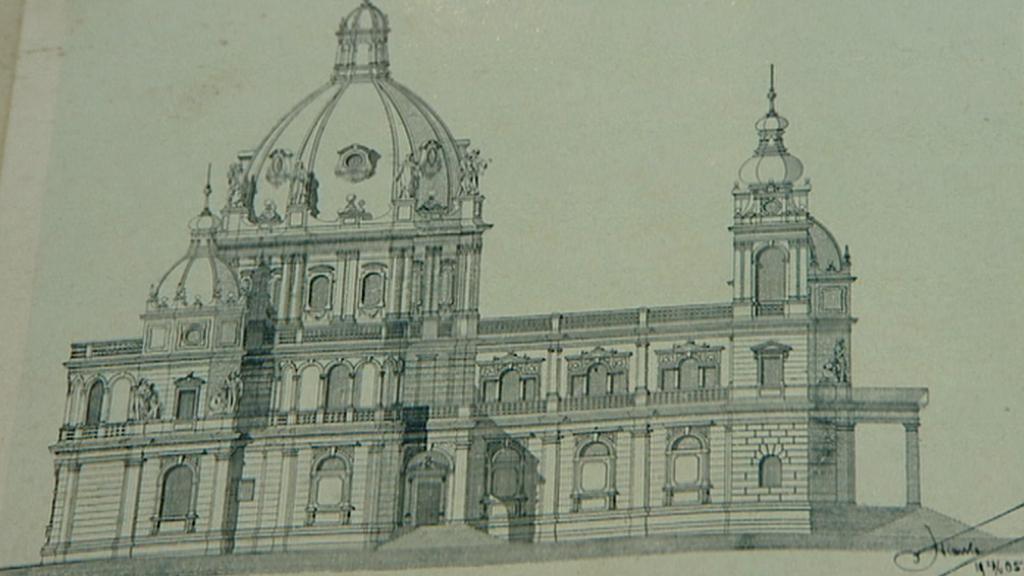 Nerealizovaný návrh na novou podobu kostela