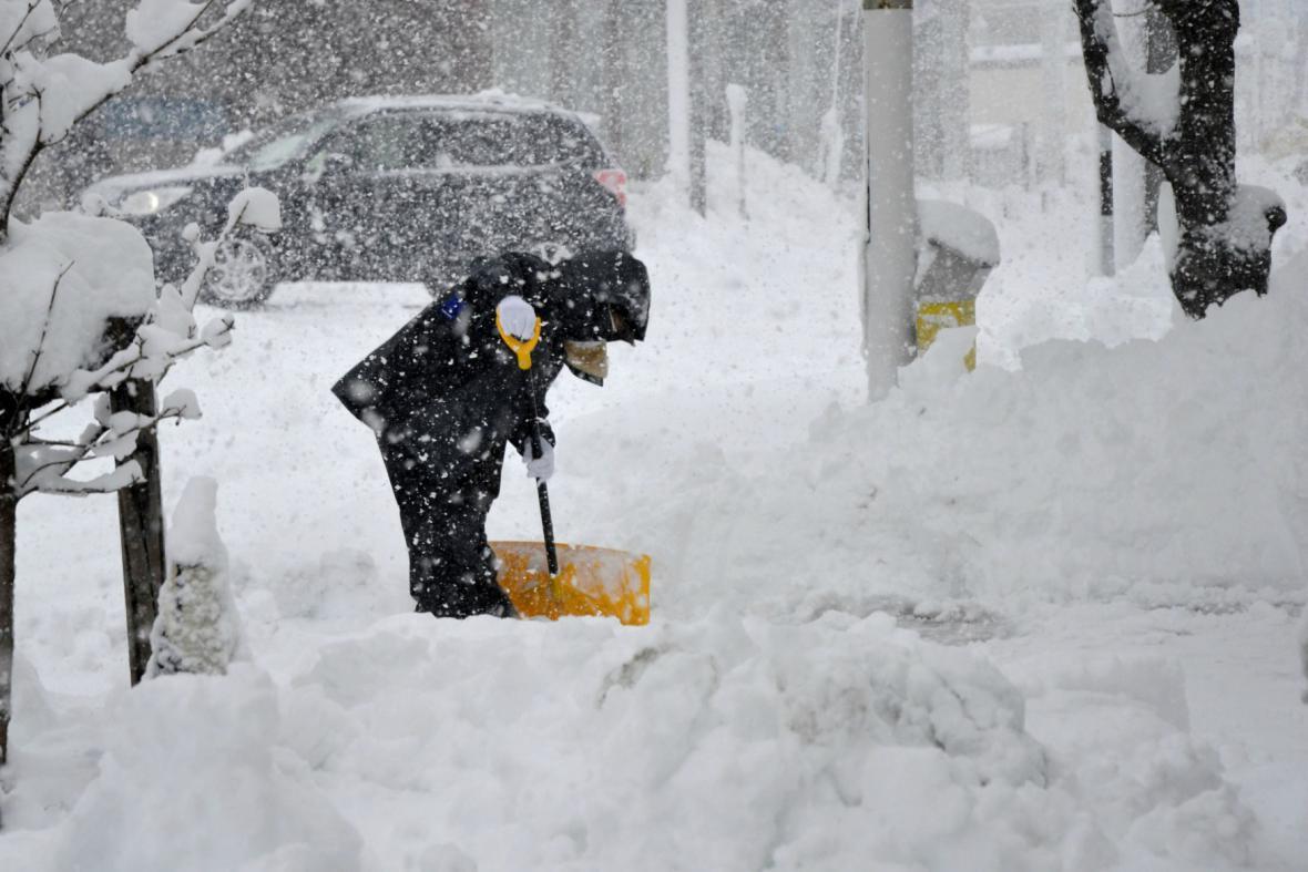 Sněhová kalamita v Japonsku