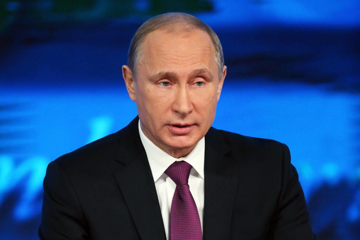 Vladimir Putin na výroční tiskové konferenci
