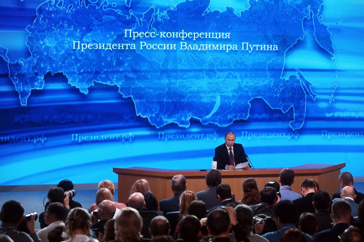 Výroční tisková konference Vladimira Putina