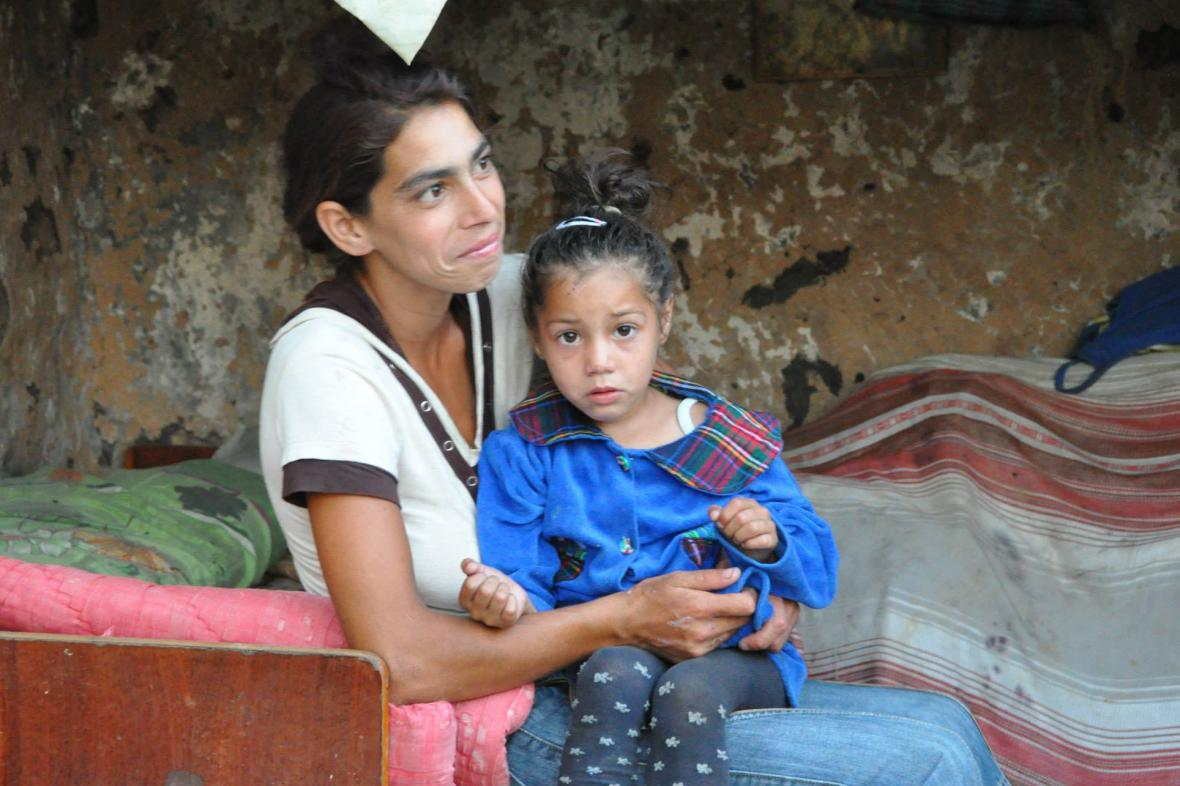 Ukrajinská matka Mária s dcerou