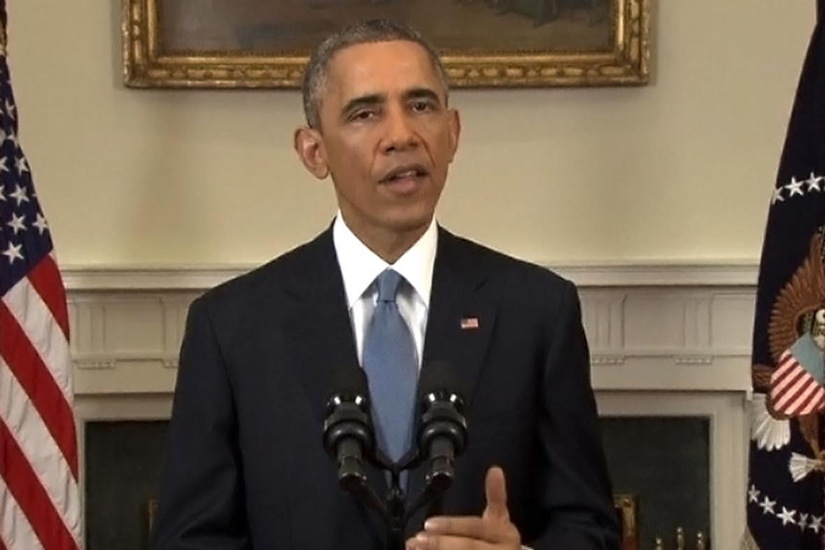 Barack Obama v televizním projevu ke vztahům s Kubou