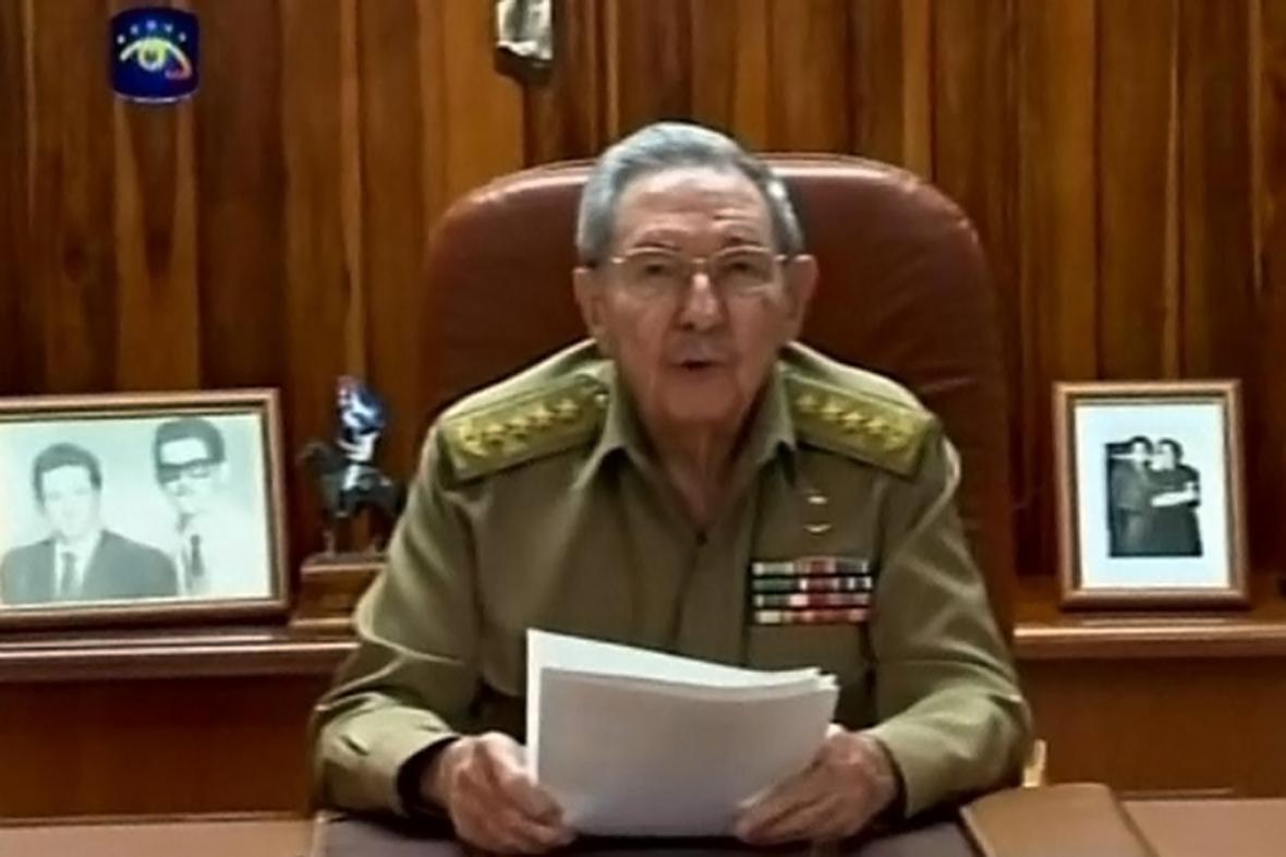 Raúl Castro v televizním projevu ke vztahům s USA