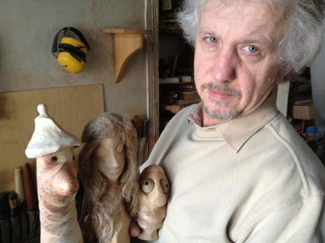 25. ledna jsem navštívil výtvarníka Martina Patřičného a ten mi představil své Dřevíky