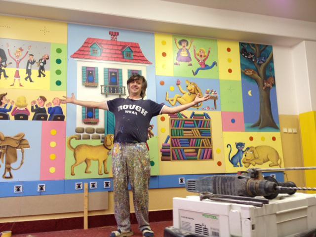 15. listopadu jsem točil pana Škrdlíka a jeho obraz pro autistické děti