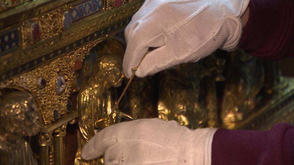 Drobné části relikviáře bylo nutné převážet odděleně