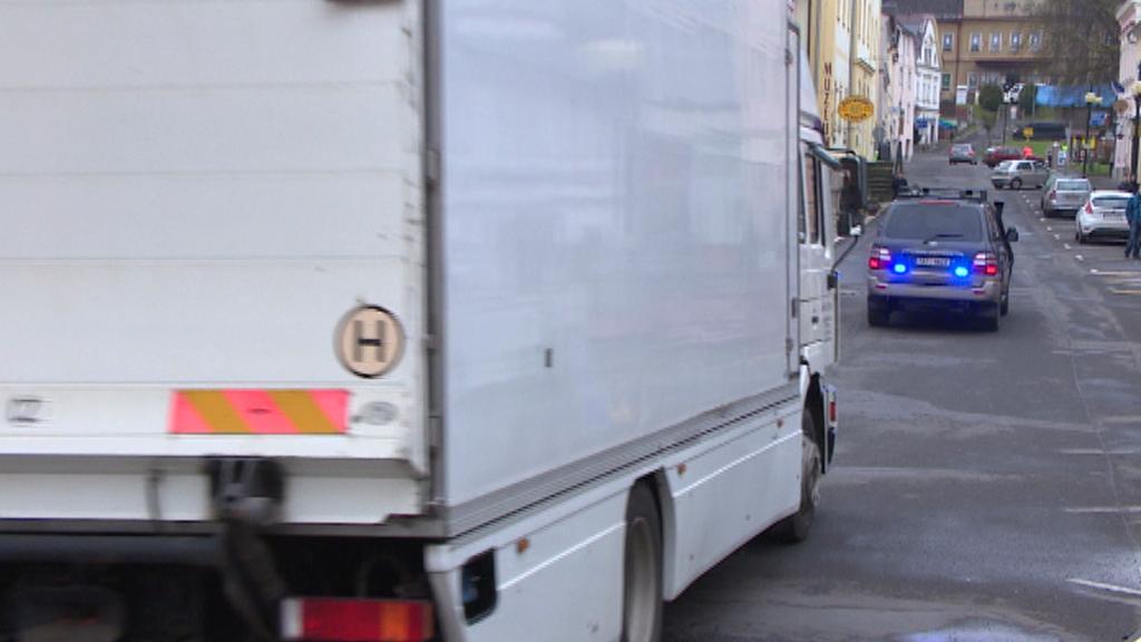 Odjezd transportu z Bečova