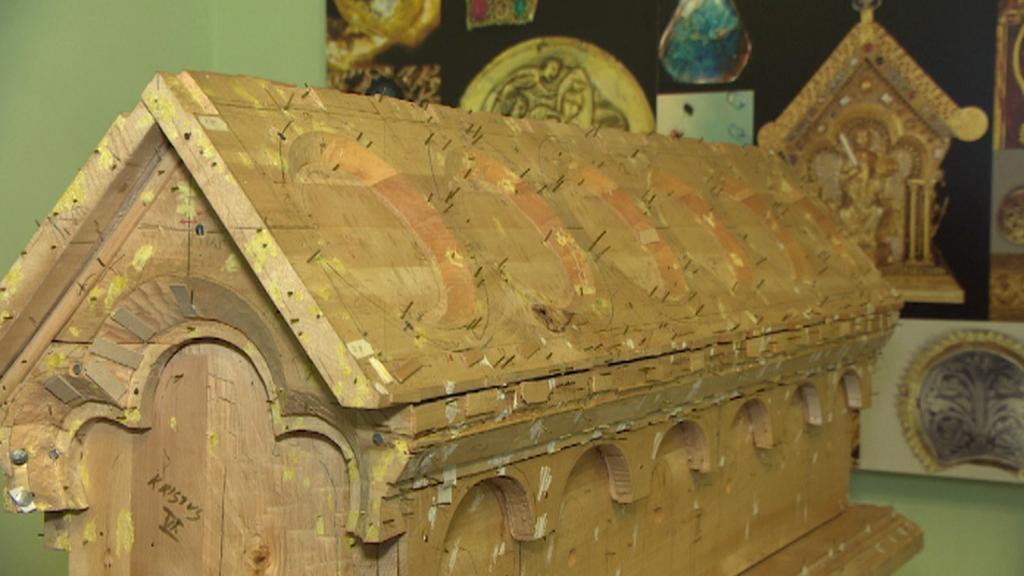 Dřevěný základ relikviáře sv. Maura