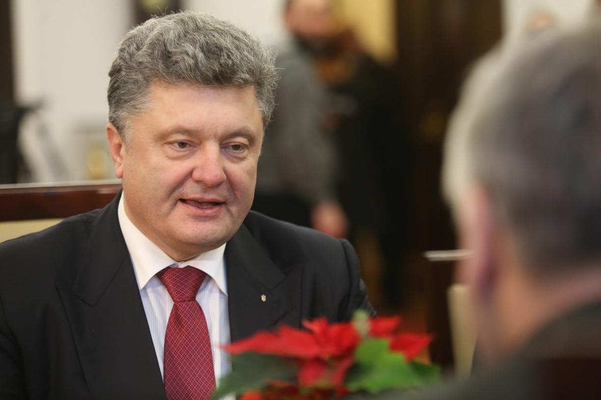 Petro Porošenko během návštěvy Polska