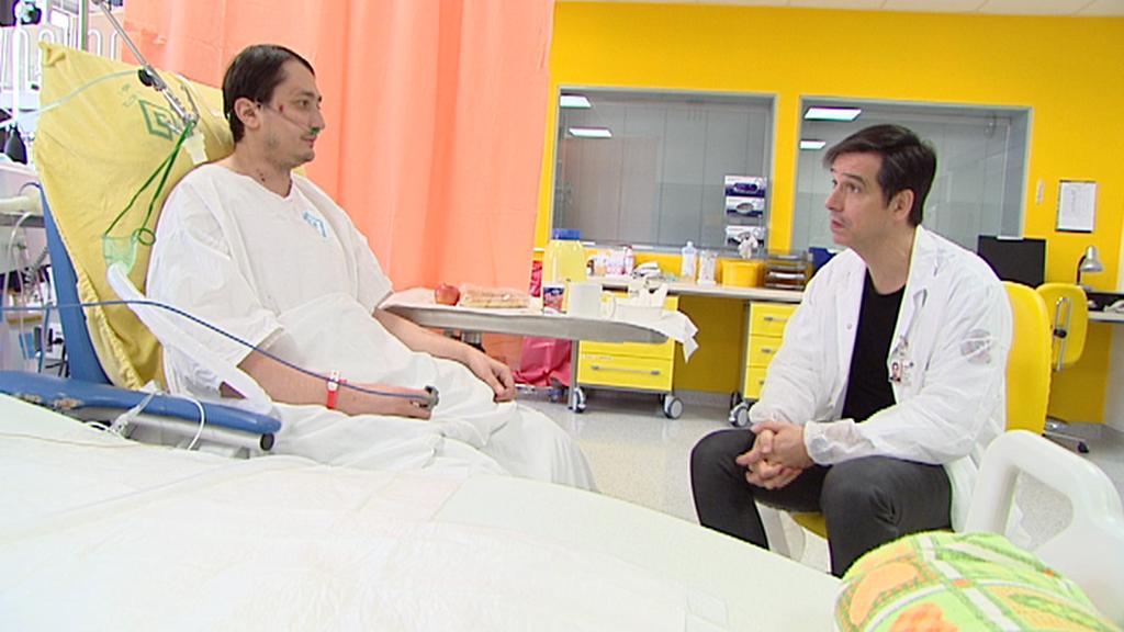 Pacient a přednosta FN Motol Robert Lischke