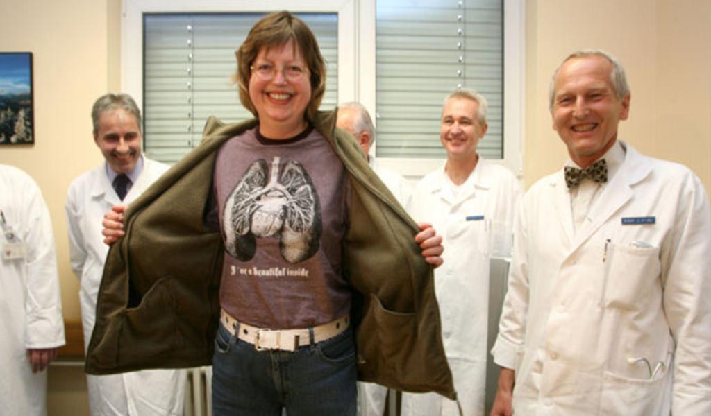 Pacientka, která podstoupila transplantaci srdce a plic v roce 2007