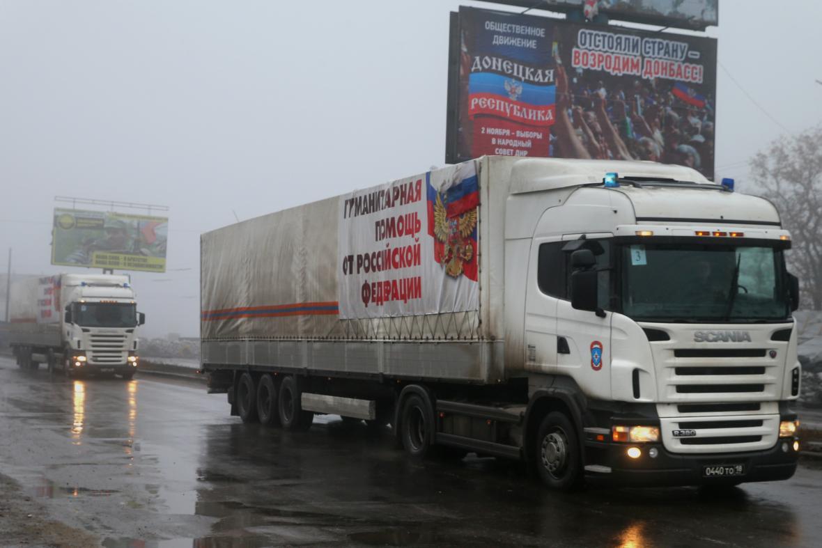 Devátý ruský humanitární konvoj pro Ukrajinu
