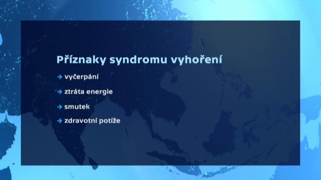 Příznaky syndromu vyhoření
