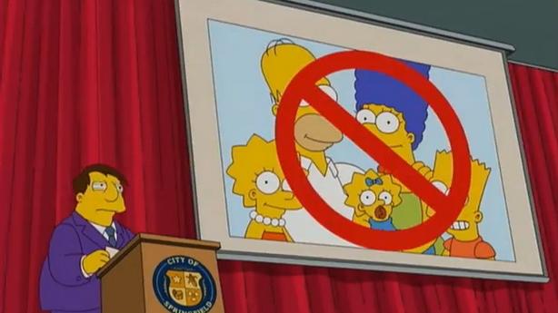 Simpsonovi z epizody At Long Last Leave
