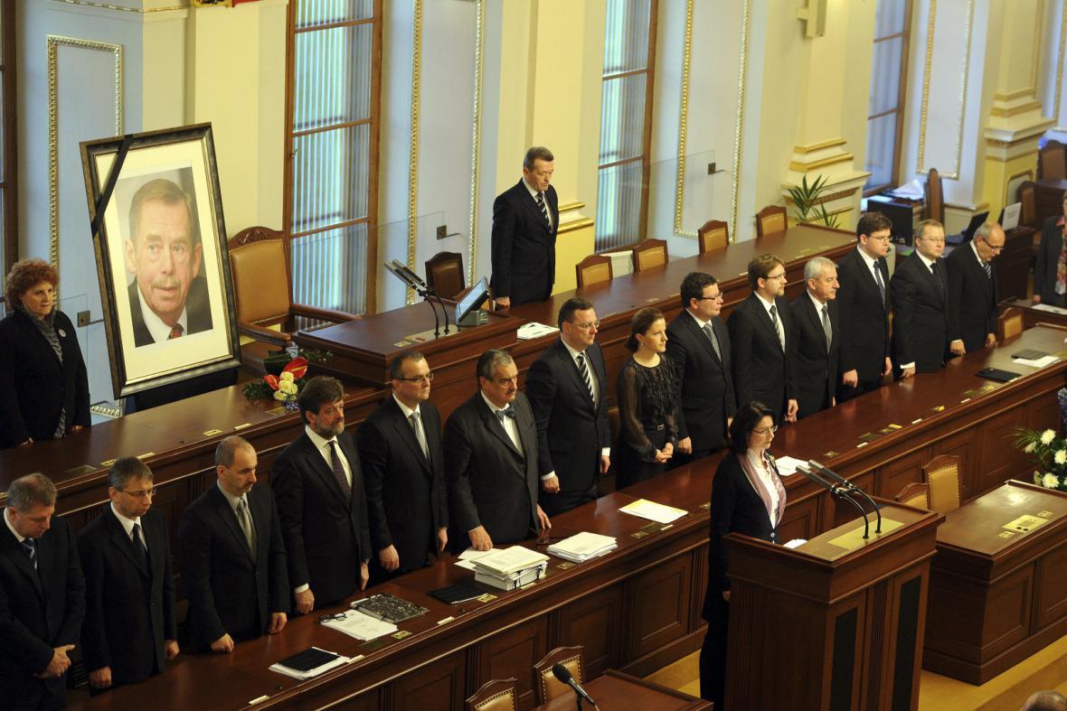 Poděkování Václavu Havlovi v Poslanecké sněmovně