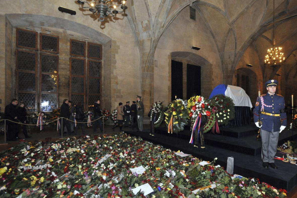 Loučení s Václavem Havlem ve Vladislavském sále