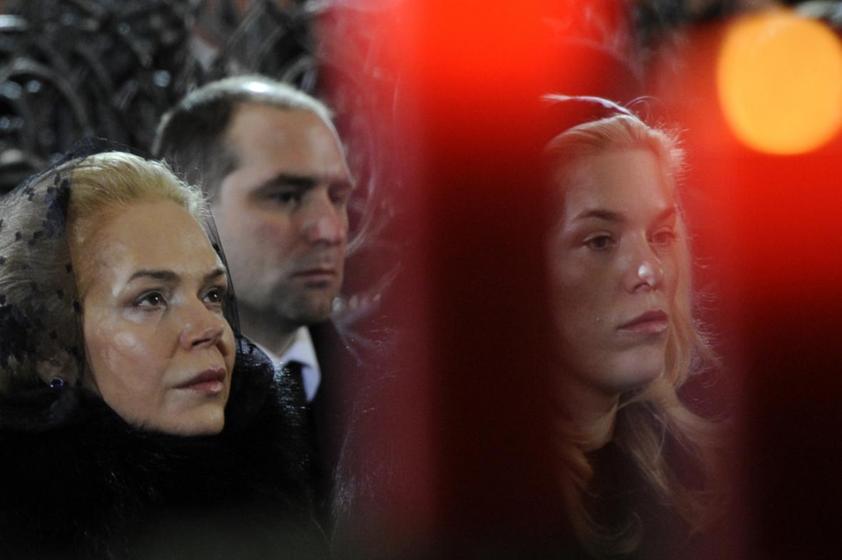 Dagmar Havlová na pohřbu svého manžela Václava Havla