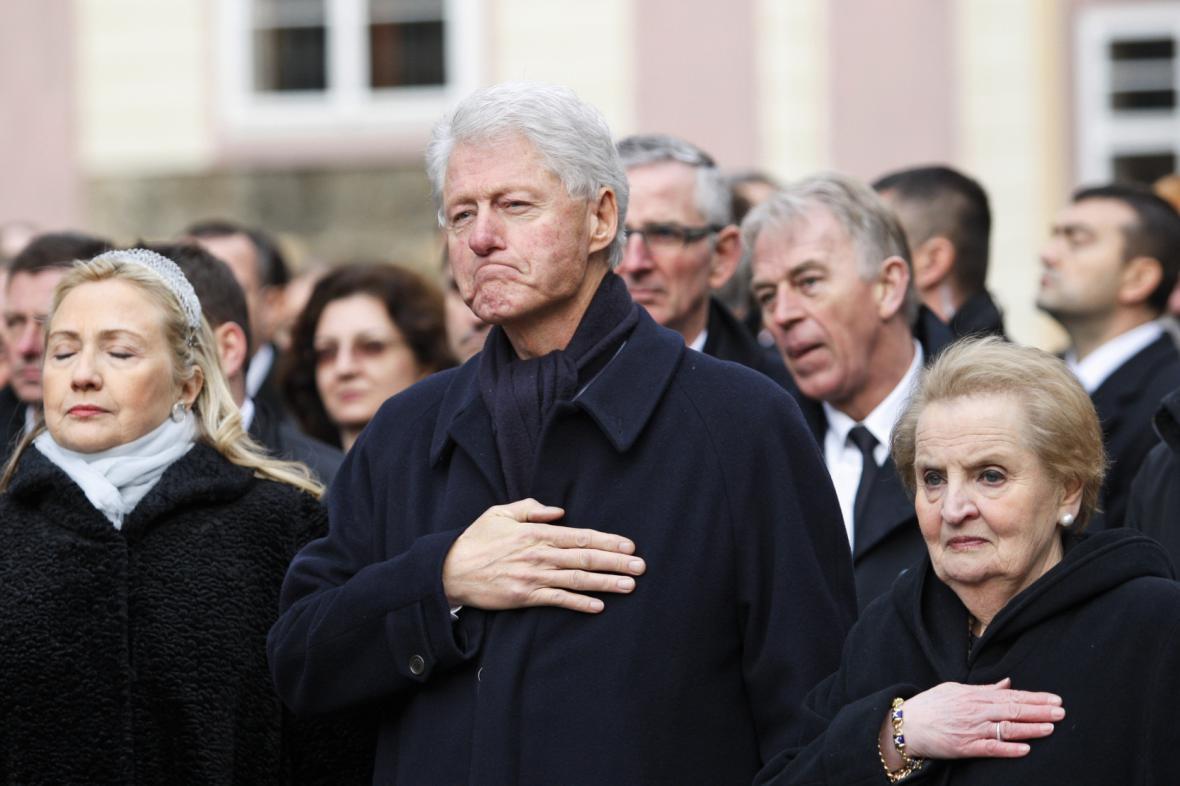 Účastníci pohřbu Václava Havla