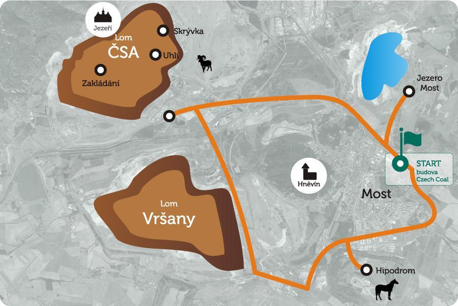 Uhelné safari - Trasa 1 Lom ČSA