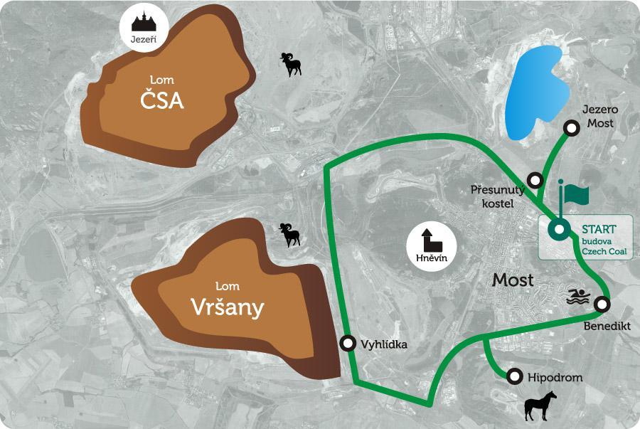 Uhelné safari - Trasa 3 Rekultivační trasa