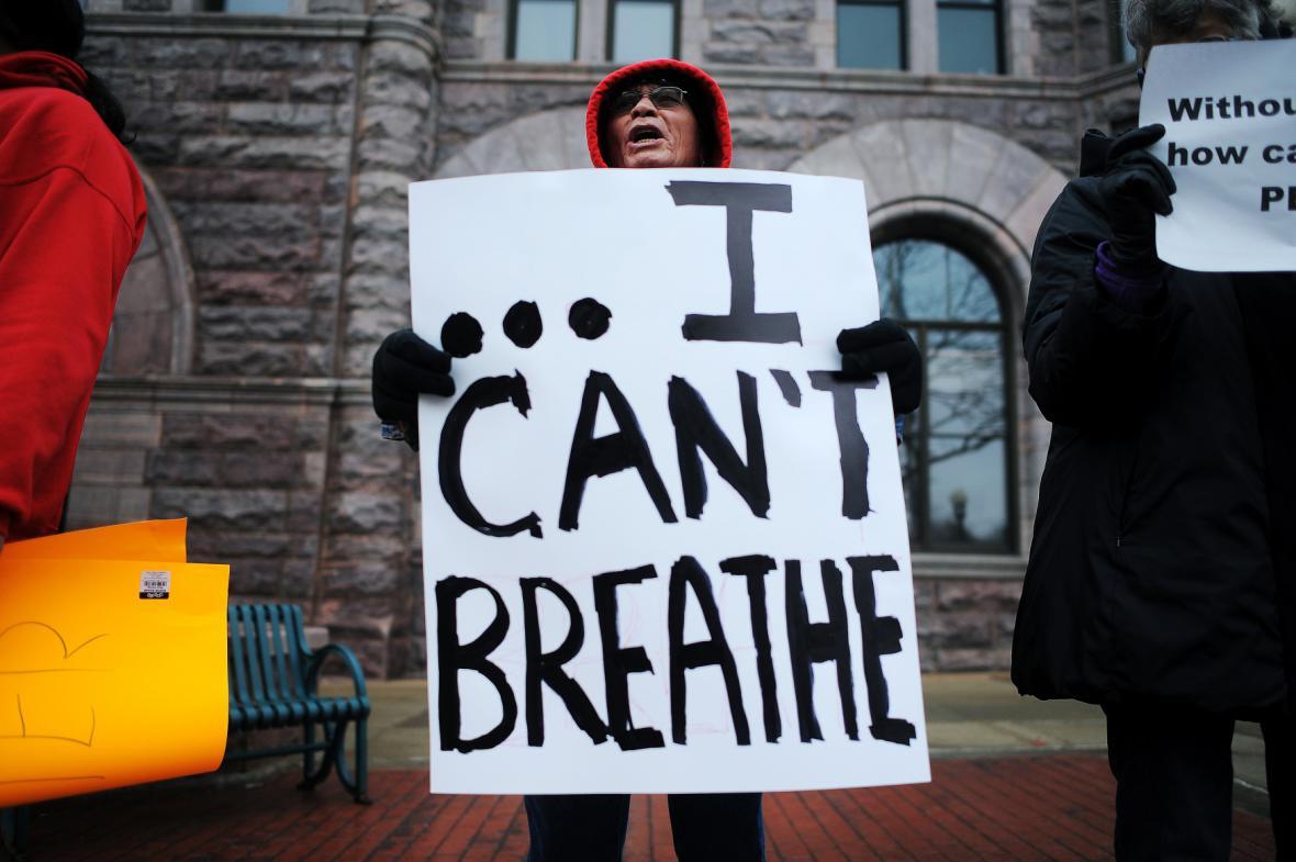 Protest proti policejnímu násilí v New Yorku