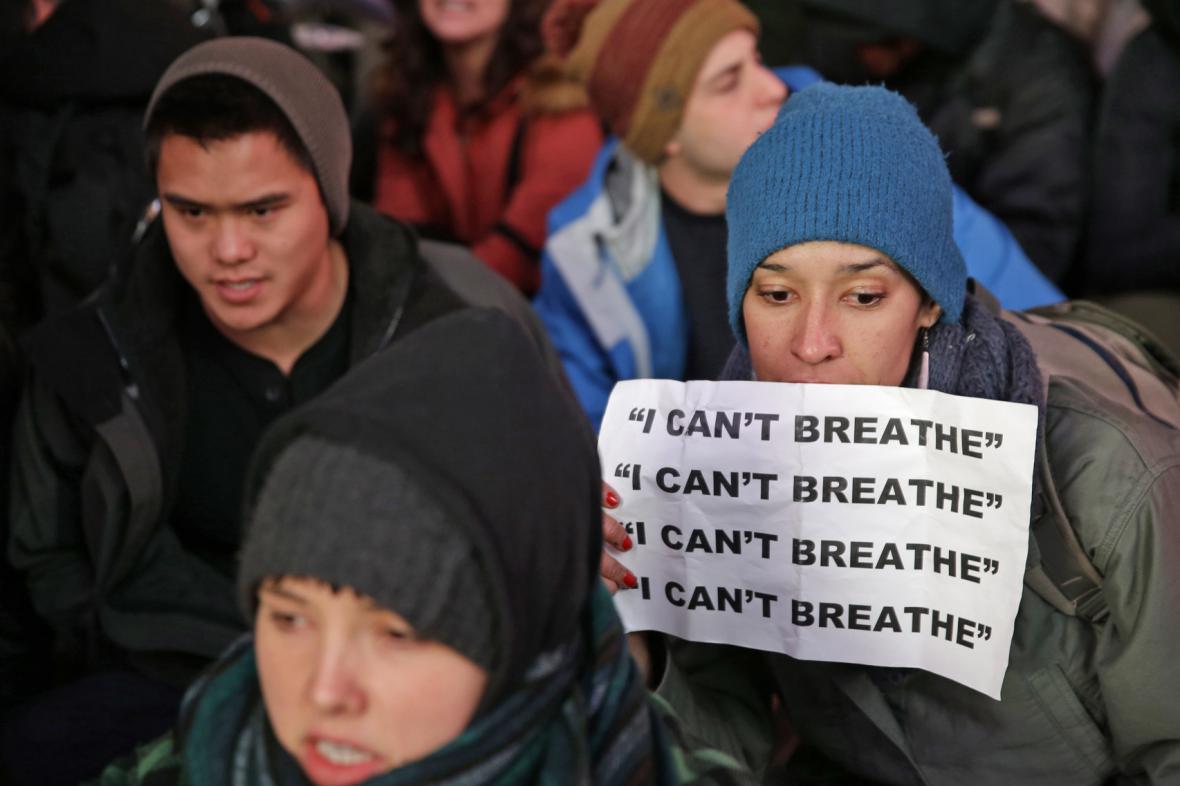 Newyorské protesty za Erica Garnera