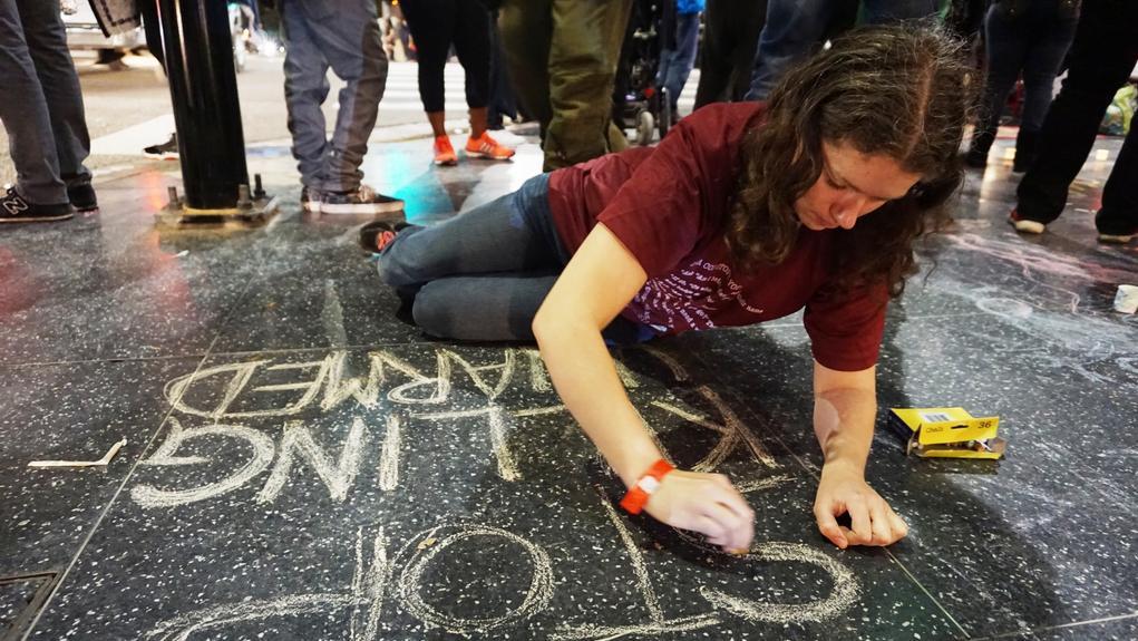 Protest na hollywoodském bulváru