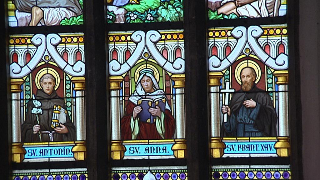 Vitráže z kostela sv. Antonína