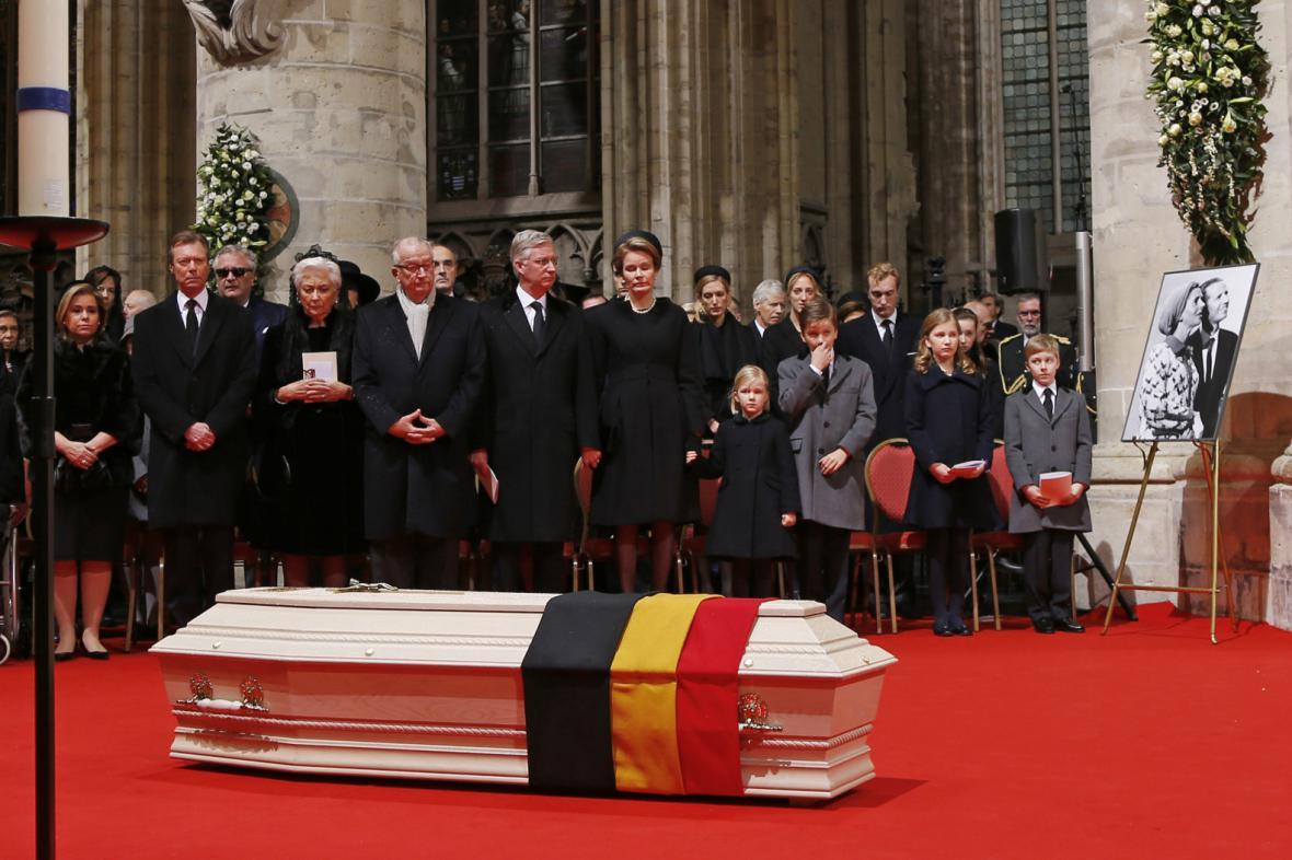 Pohřeb belgické královny Fabioly