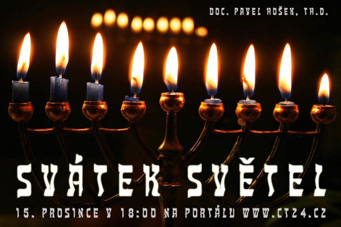 Plakát k přednášce Svátek světel