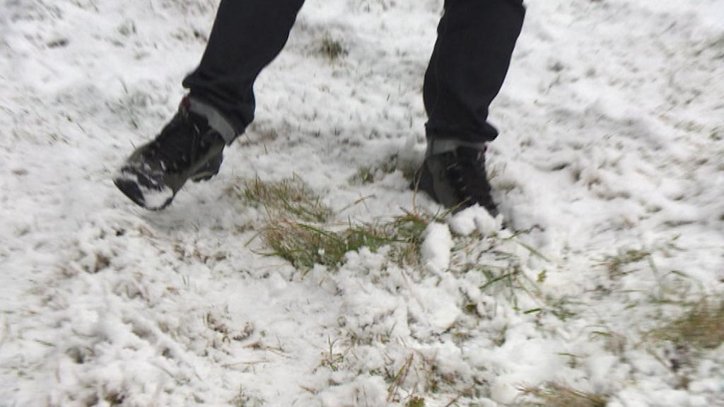 Bublava v Krušných horách - sněhu je zatím málo