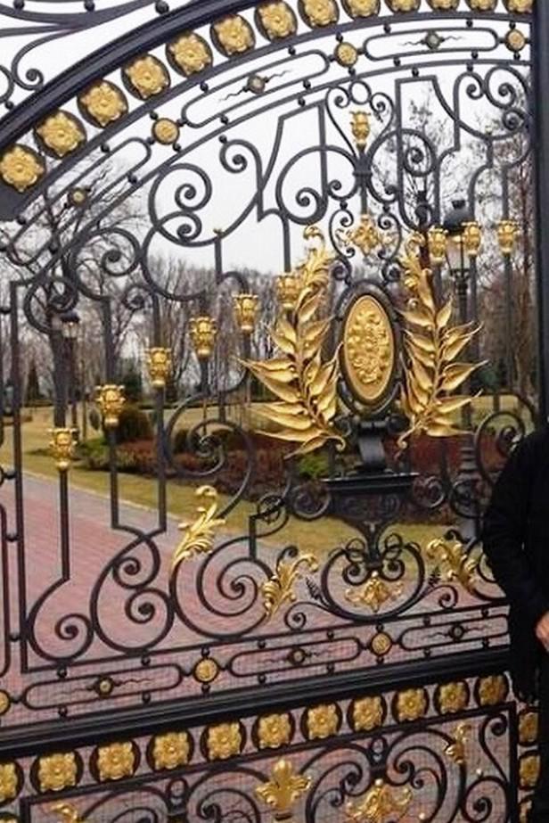 Brána Janukovyčovy rezidence v Mežyhirje