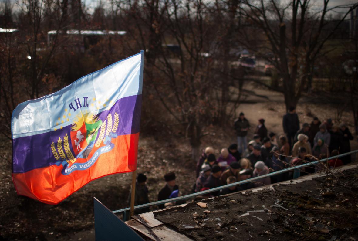 Volby separatistů na východě Ukrajiny