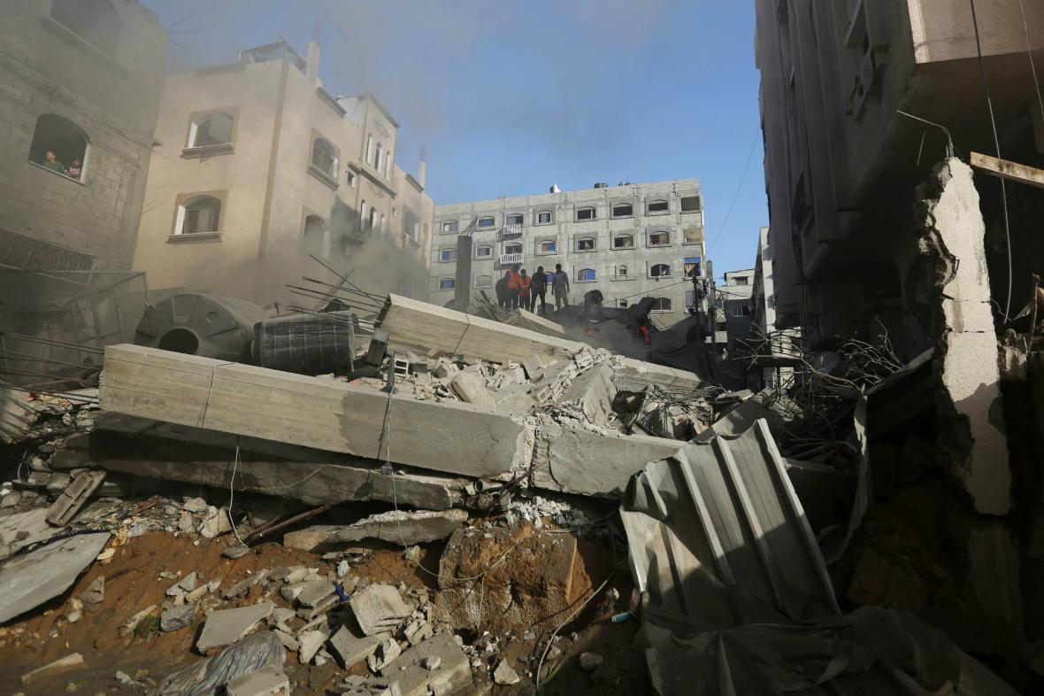 Škody způsobené izraelskými útoky
