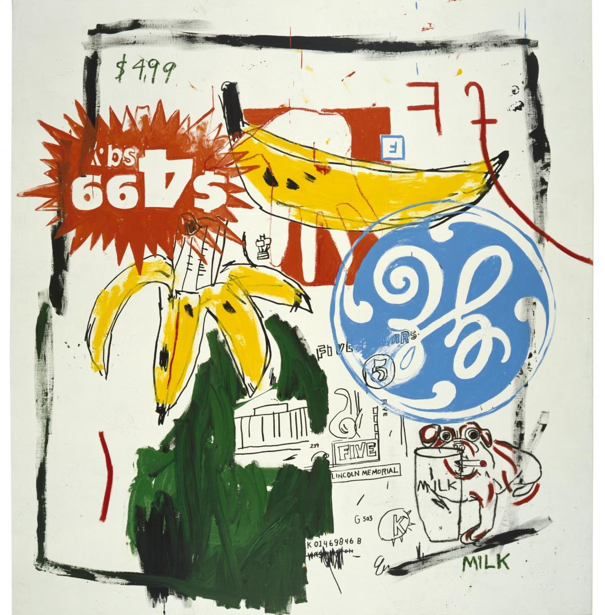 Andy Warhol, Jean-Michel Basquiat / Banány, 1985
