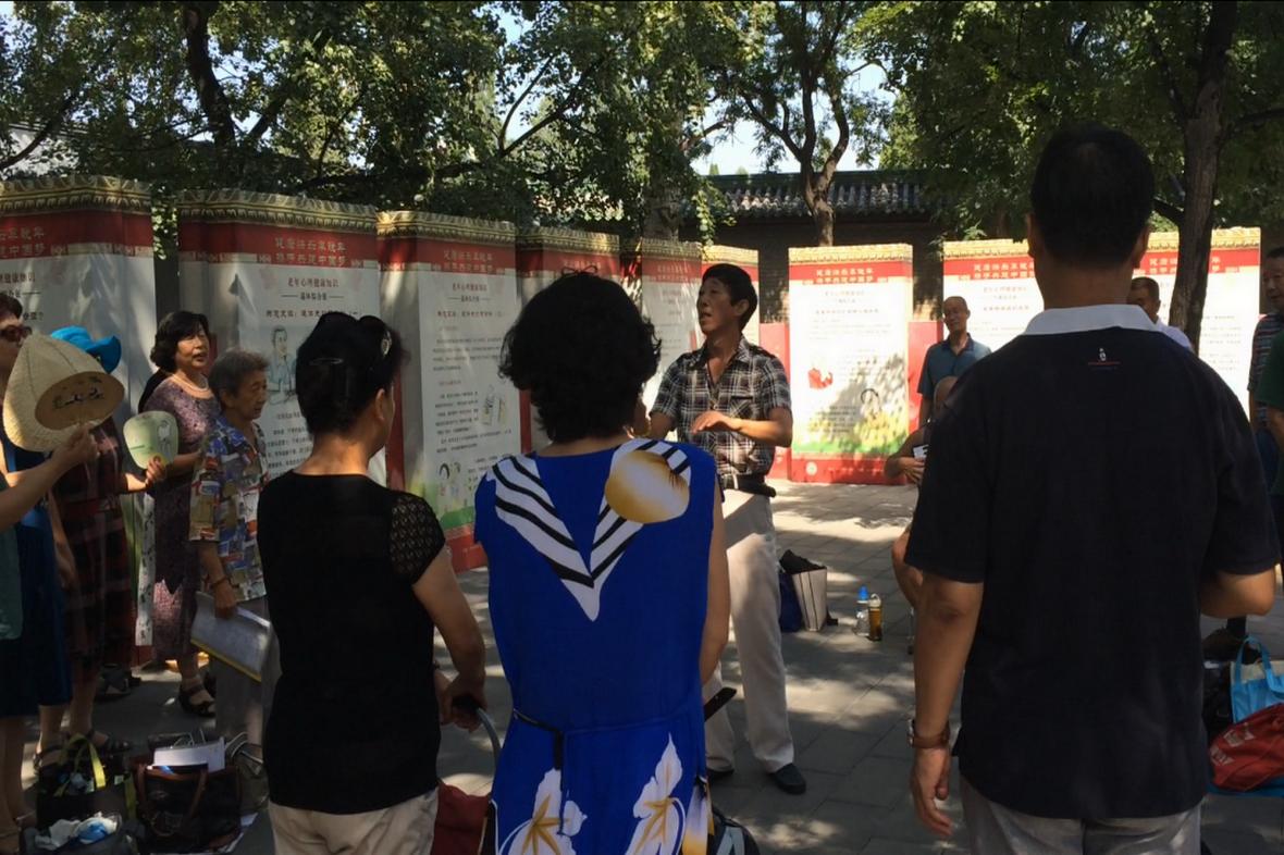Oblíbenou zábavou Číňanů je kolektivní zpěv
