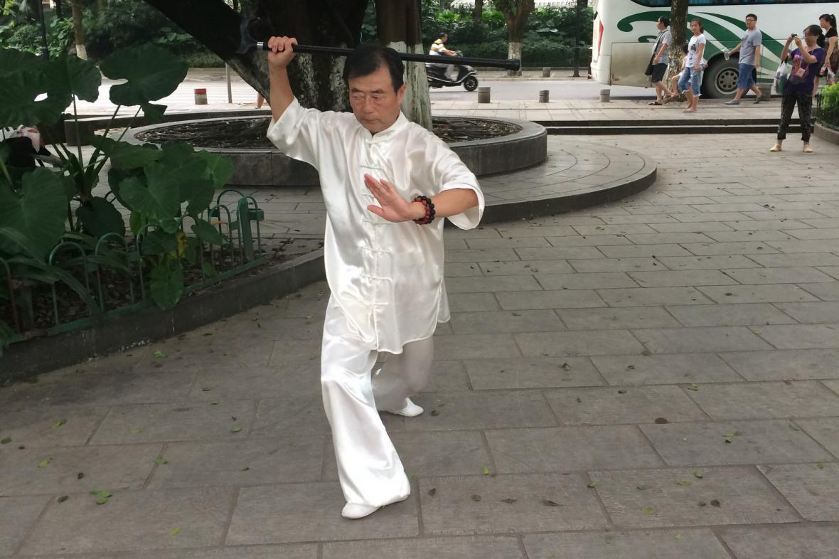 Sportovní varianta taiči je hodně oblíbená mezi staršími lidmi
