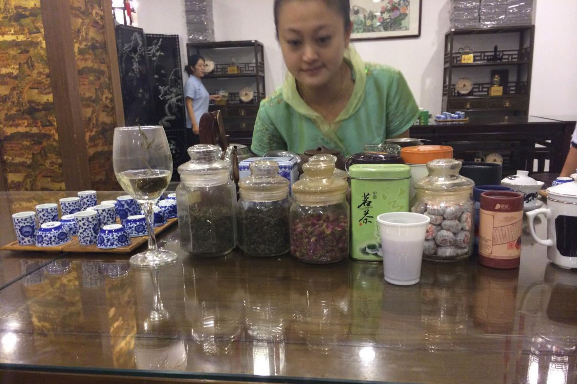 Nabídka čajů je v Číně velmi široká