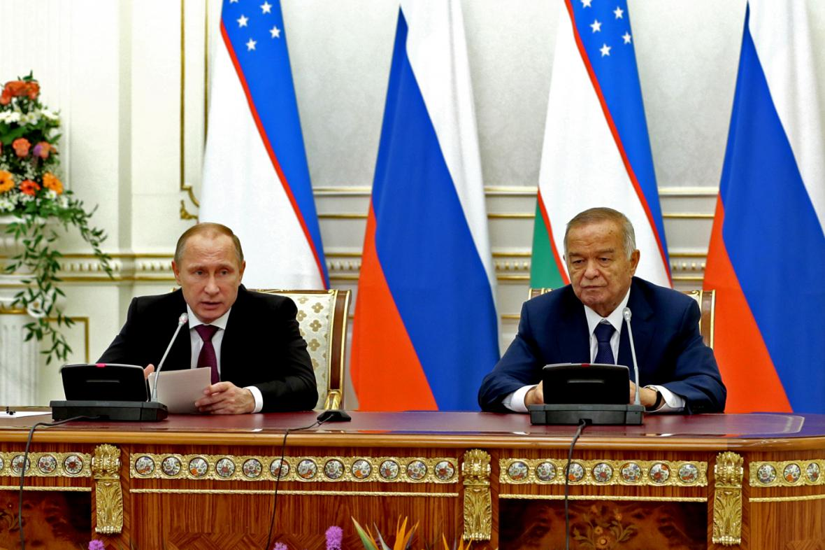 Vladimir Putin a Islam Karimov