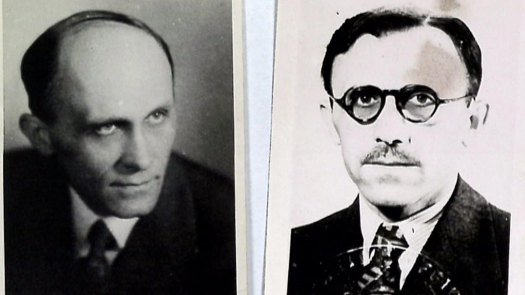Václav Knotek a jeho podoba v utajení (vpravo)
