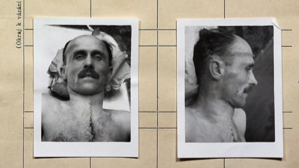 Posmrtná fotografie Václava Knotka