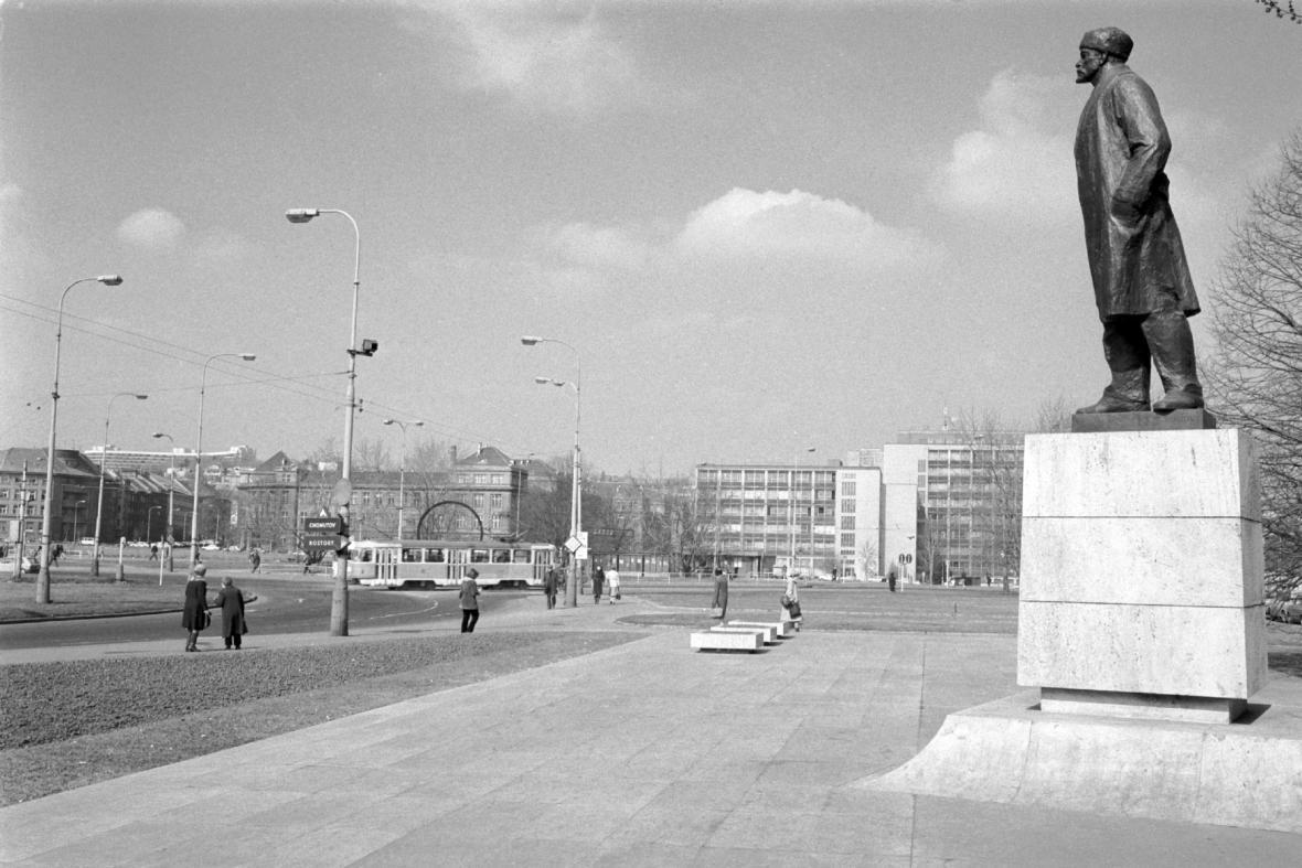 Náměstí Říjnové revoluce (dnes Vítězné náměstí)
