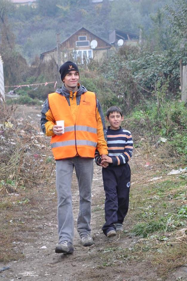 Místní děti si dobrovolníky oblíbily