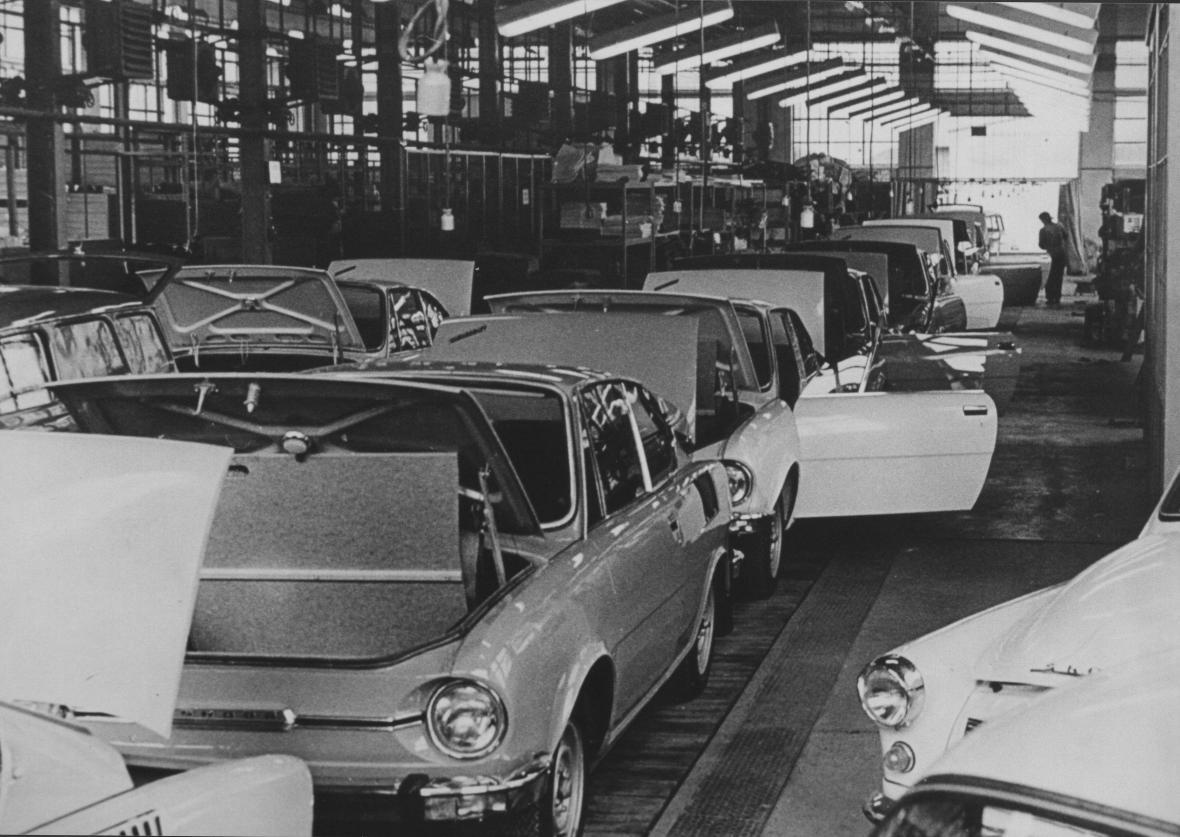 Škoda 110 R Coupé a Škoda Octavia Kombi. Rok 1971