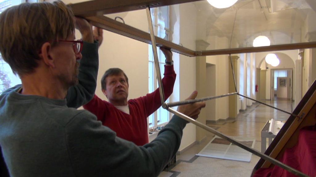 Příprava expozice v ústeckém muzeu