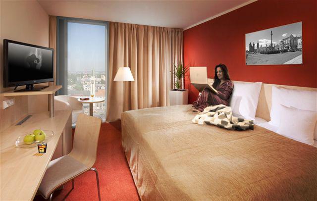 Vizualizace budoucího řešení hotelového pokoje