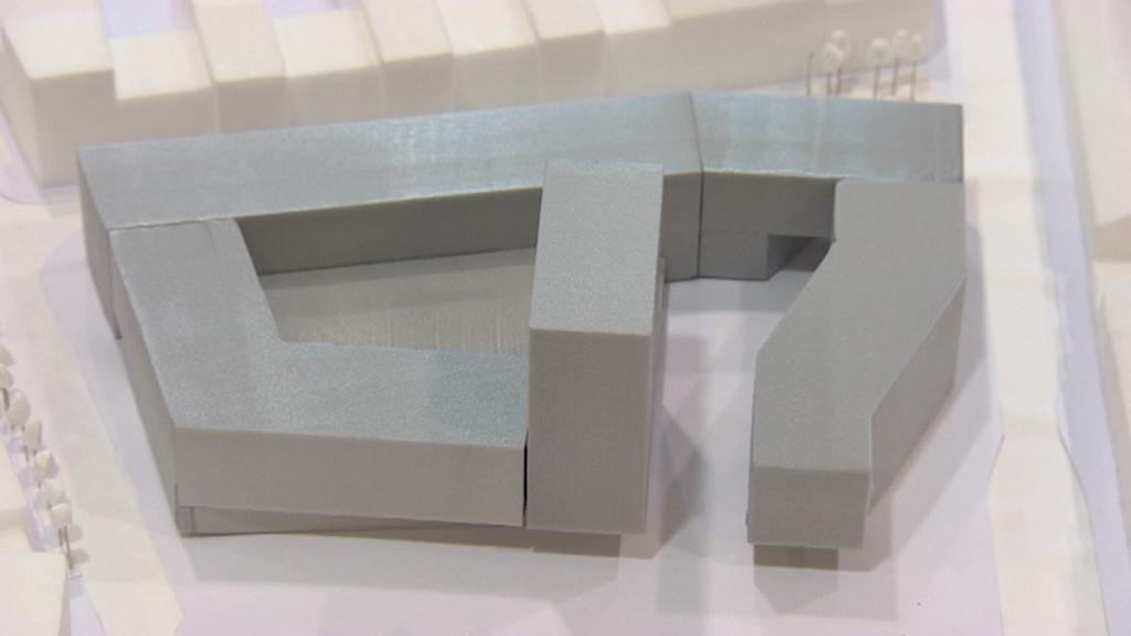 Model nového komplexu budov